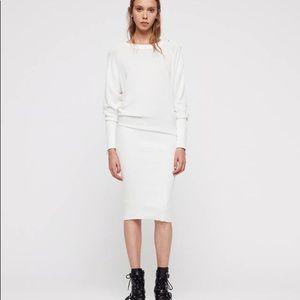 AllSaints Suzie Dress Ivory White